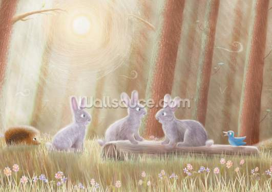 Tree Animals Wallpaper Wall Murals