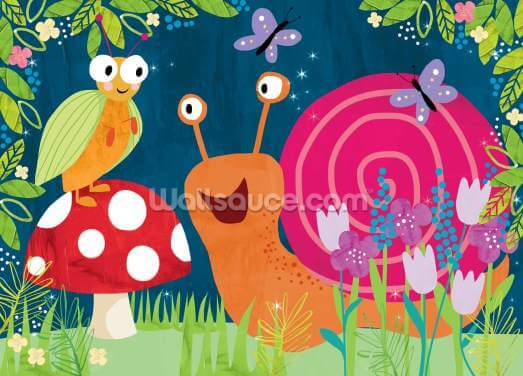 Snail Puzzle Wallpaper Wall Murals