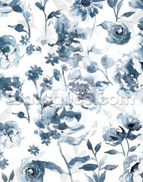 Indigo Garden Wallpaper Wall Murals