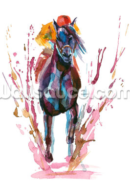 Racehorse and Rider Wallpaper Wall Murals