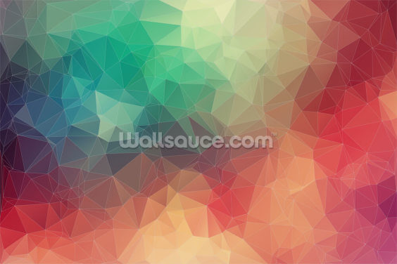 Abstract 2D Geometric Wallpaper Wall Murals