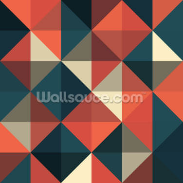 Retro Red and Blue Wallpaper Wall Murals