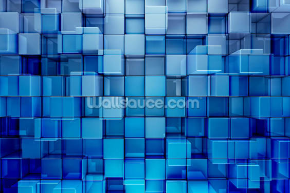 Blue Blocks Abstract Background Wallpaper Wall Murals