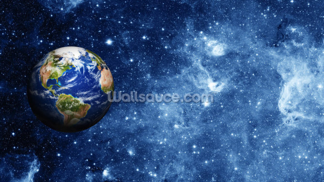 Planet Earth in Space Wallpaper Wall Murals
