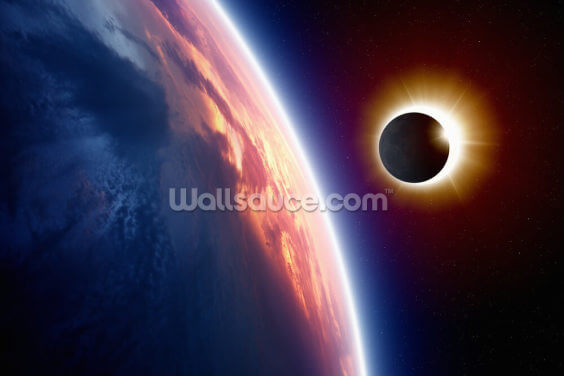 Sun Eclipse Wallpaper Wall Murals