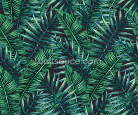 Dark Tropical Leaves Jungle Wallpaper Wallpaper Wall Murals