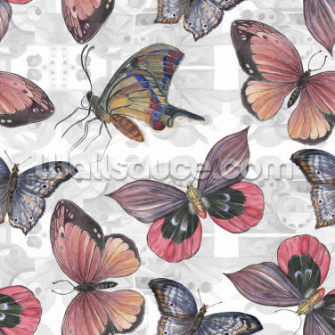 Light Pattern Background Butterfly Wallpaper Wallpaper Wall Murals
