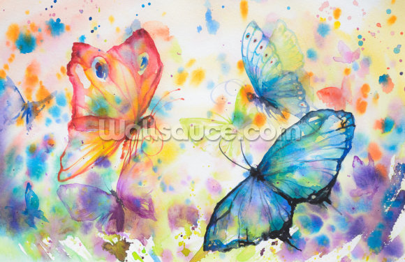 Flying Butterflies Wallpaper Wall Murals