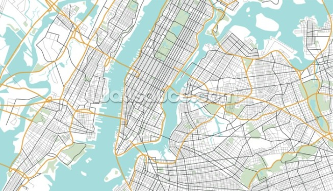 New York City Map Wallpaper Wall Murals