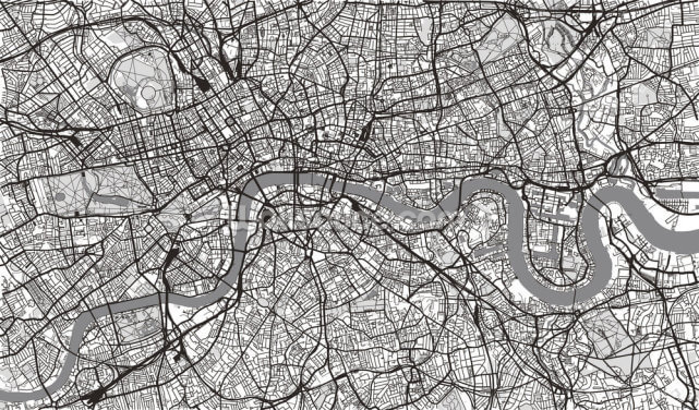 Urban Map of London Wallpaper Wall Murals