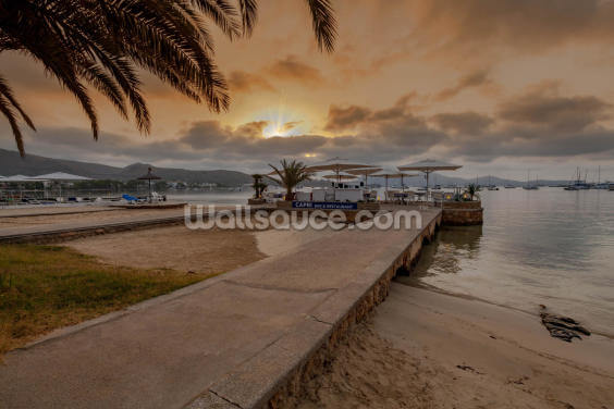 Puerto Pollensa Bar Wallpaper Wall Murals