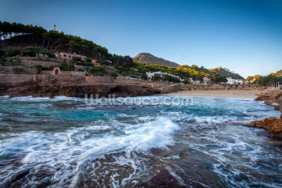 Cala San Vincente Beach Wallpaper Wall Murals