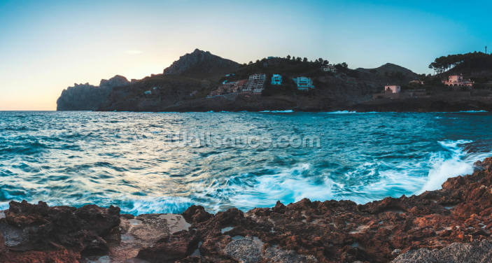 Cala San Vincente Blues Wallpaper Wall Murals