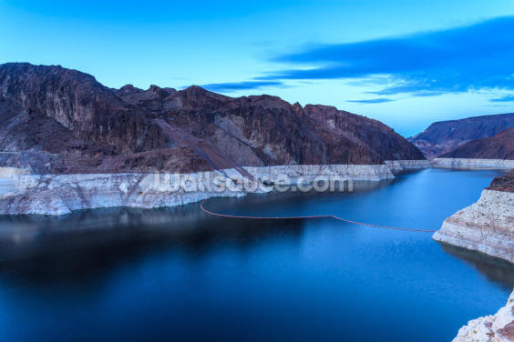 Hoover Dam Blue Hour Wallpaper Wall Murals