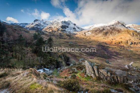 Snow Mountains Snowdonia Wallpaper Wall Murals
