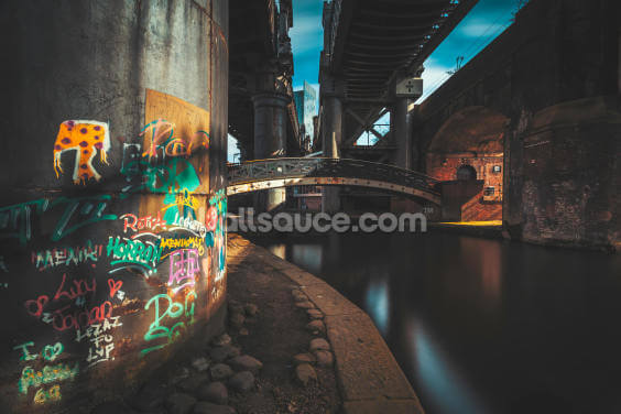 Castlefield Industrial Bridges Wallpaper Wall Murals