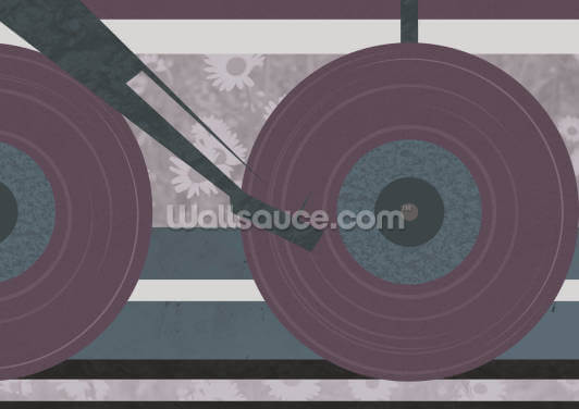 Purple Disc Jockey Wallpaper Wall Murals