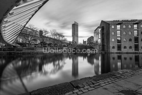 Castlefield Tower Mono Wallpaper Wall Murals