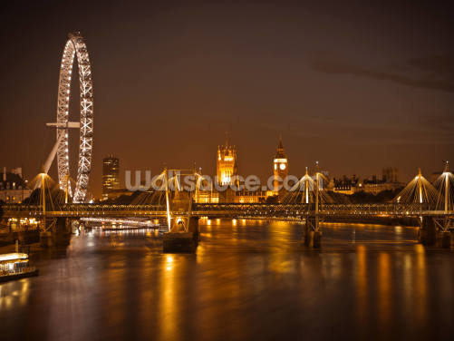Houses of Parliament at Night Wallpaper Wall Murals