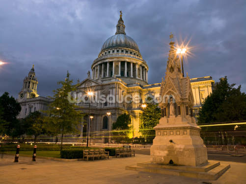 St Paul's Cathedral Night Lights Wallpaper Wall Murals