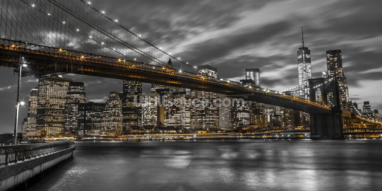 Brooklyn Bridge Yellow Splash Wallpaper Wall Murals