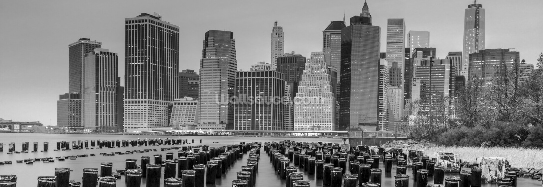 Lower Manhattan Monochrome Wallpaper Wall Murals