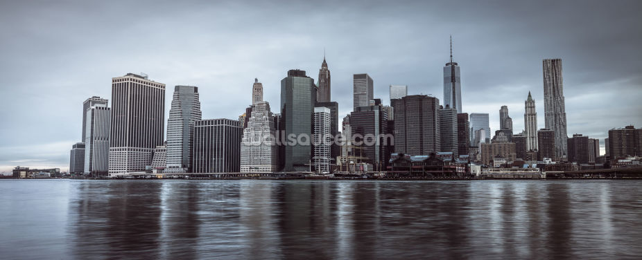 Lower Manhattan Murky Morning Wallpaper Wall Murals