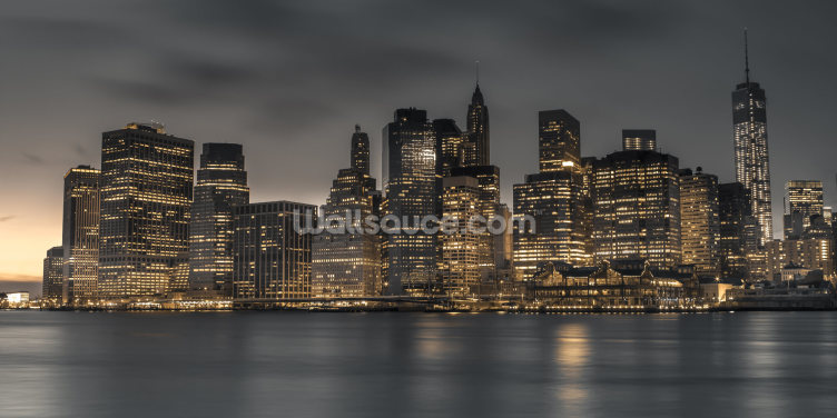 Moody Lower Manhattan Wallpaper Wall Murals