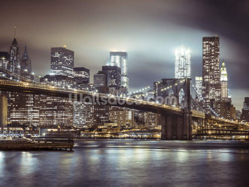 Brooklyn Bridge in the Evening Wallpaper Wall Murals