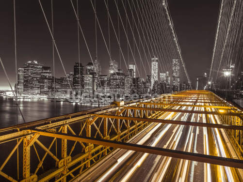 Brooklyn Bridge Bright Street Wallpaper Wall Murals
