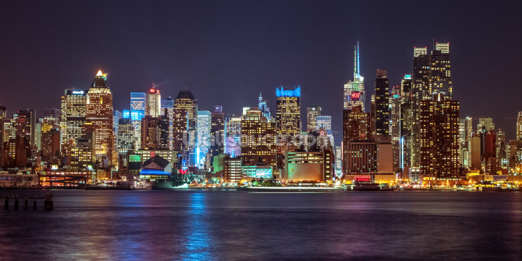 New York Bright Lights Wallpaper Wall Murals