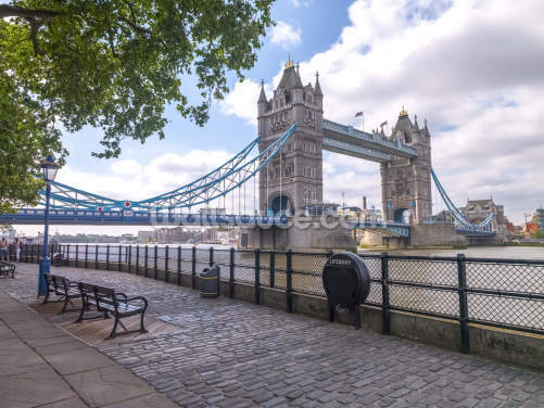 Tower Bridge from the Thames Promenade Wallpaper Wall Murals