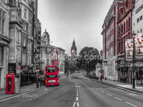 Streets of London Colour Splash Wallpaper Wall Murals