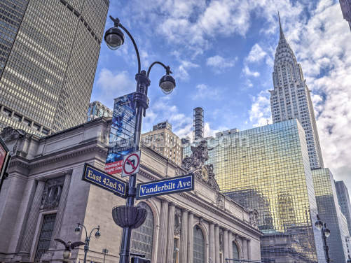 New York Cityscape with Chrysler Building Wallpaper Wall Murals