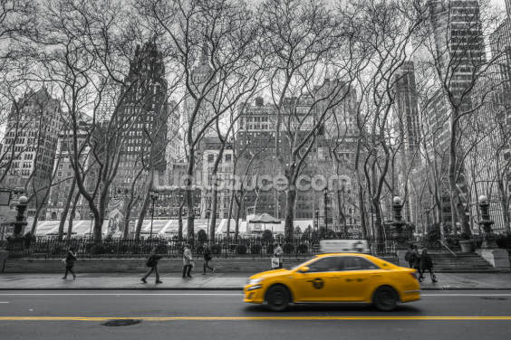 New York Taxi Colour Splash Wallpaper Wall Murals