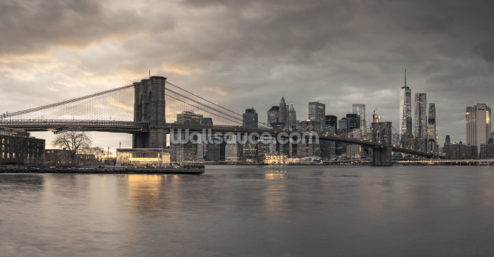 Brooklyn Bridge over East River Wallpaper Wall Murals