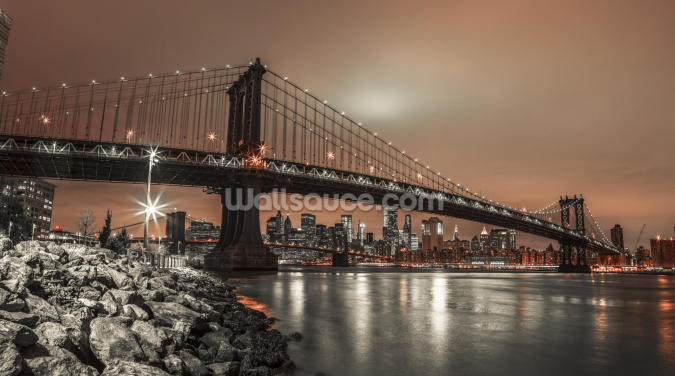 Manhattan and New York Skyline Wallpaper Wall Murals