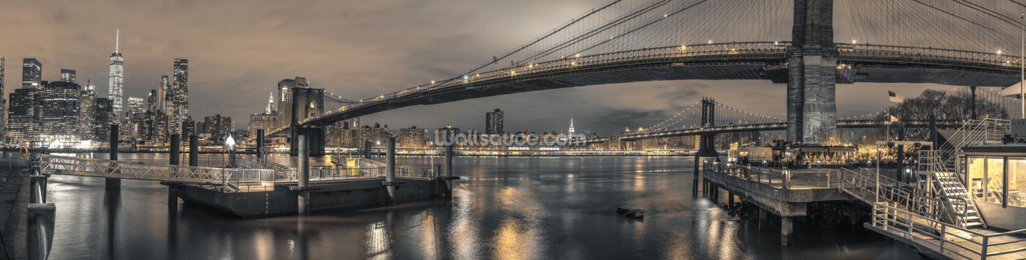 Brooklyn Bridge Long Shot Wallpaper Wall Murals