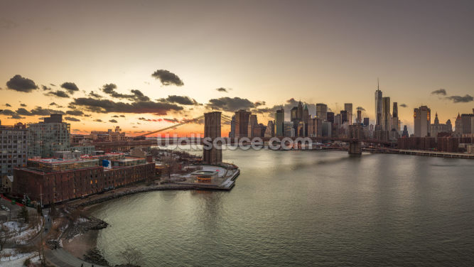 Beautiful New York Sunset Wallpaper Wall Murals