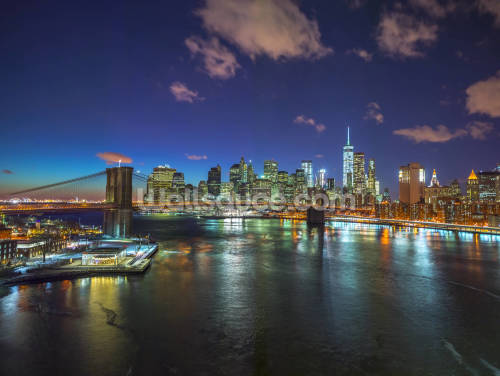 Colourful New York Night Wallpaper Wall Murals