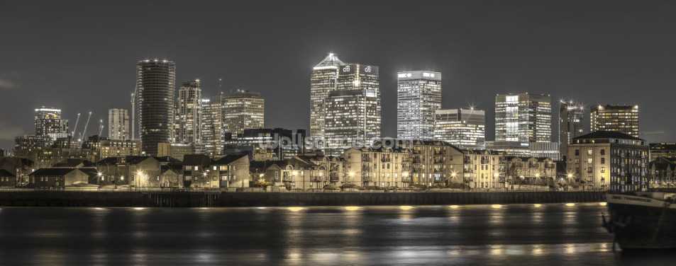Yellow Lights London Skyline Wallpaper Wall Murals