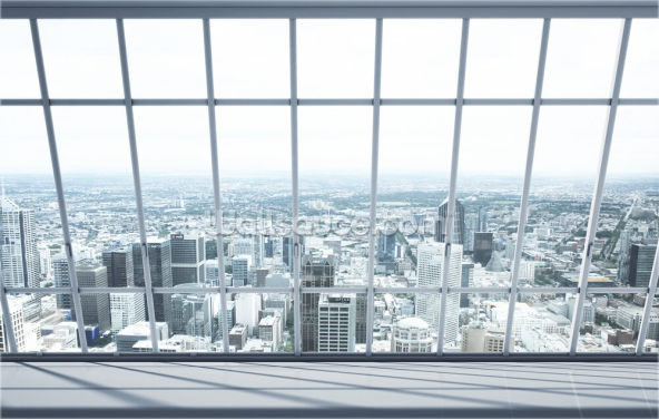 City Window View Wallpaper Wall Murals