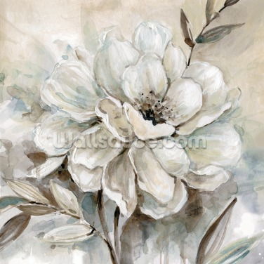 Neutral Bloom Wallpaper Wall Murals