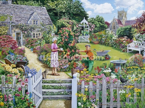 Tending a Cottage Garden Wallpaper Wall Murals
