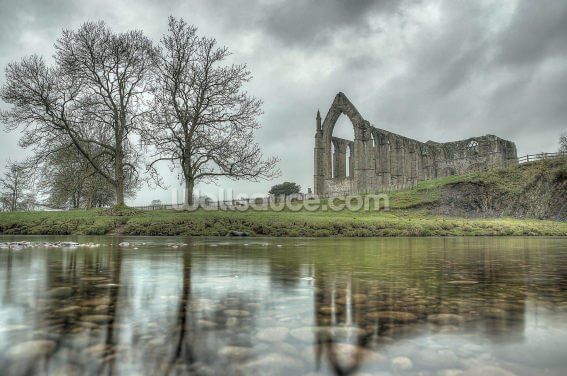 Bolton Abbey Reflections Good, Yorkshire Wallpaper Wall Murals