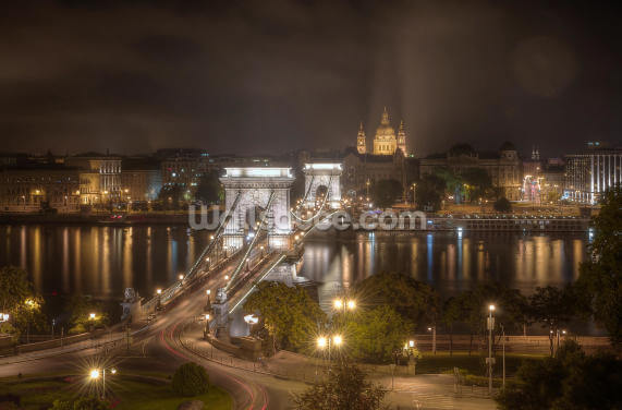 Budapest's Chain Bridge Wallpaper Wall Murals