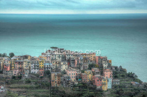 Corniglia on the Cliffs Wallpaper Wall Murals