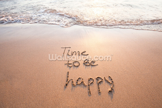 Time to be Happy Wallpaper Wall Murals