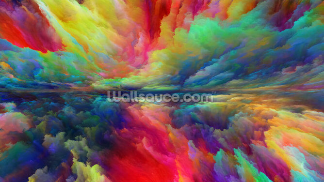 Vision of Abstract Landscape Wallpaper Wall Murals