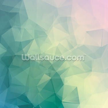 Triangular Pastels Wallpaper Wall Murals